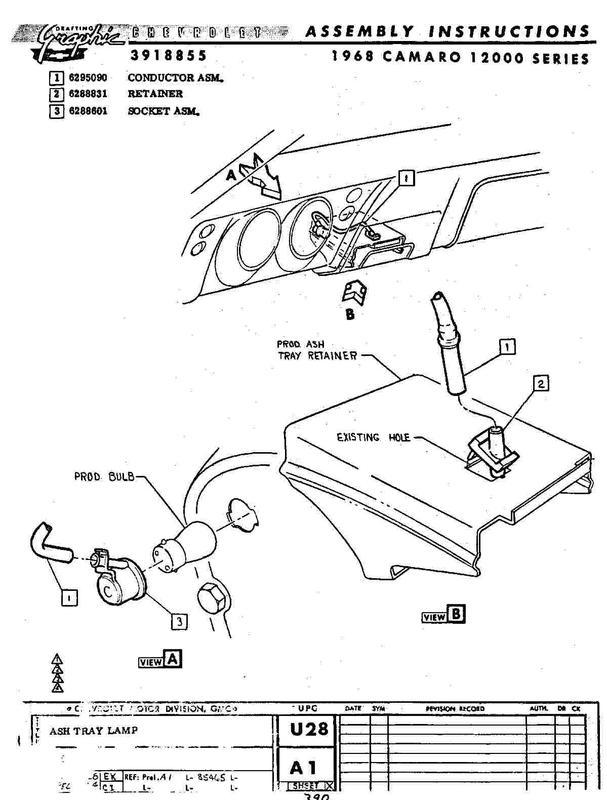 Identifying Wires 1968 Gauge Cluster Team Camaro Tech