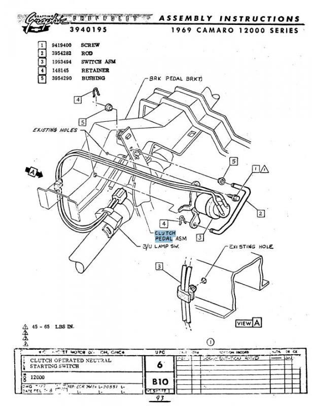 Neutral Safety Switch Team Camaro Tech