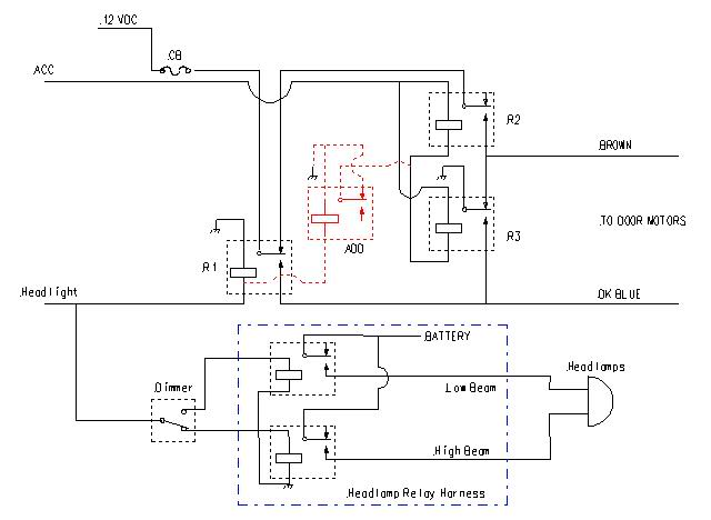 67 rs headight harness upgrade adding relays or relay harness click image for larger version 67rs headlamprelaysverb jpg views 1261 size 28 4