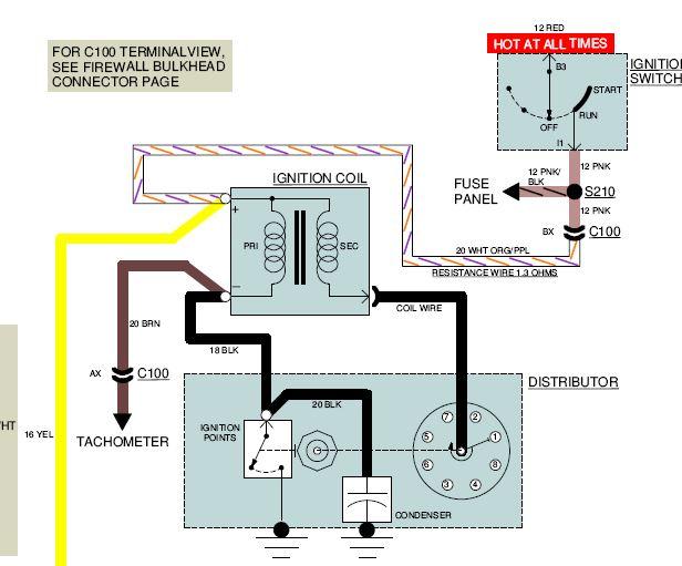 Wiring Hei Distributor With Mini Starter Team Camaro Tech