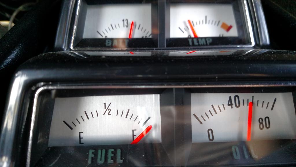 Temp Gauge Console 69 Camaro Team Camaro Tech