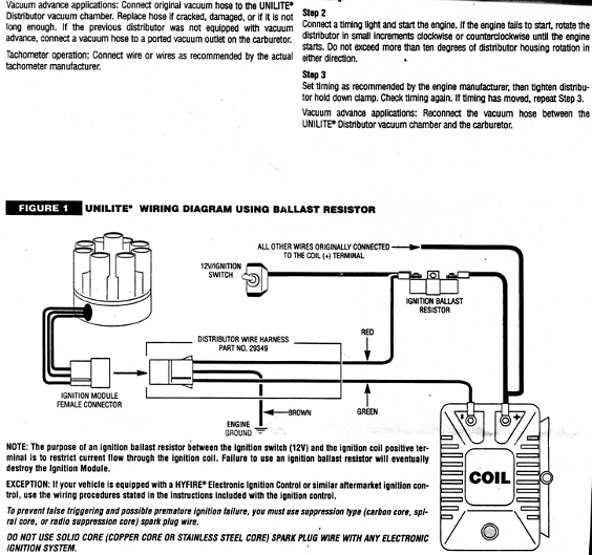 ballast resistor wiring mallory unilite - team camaro tech,