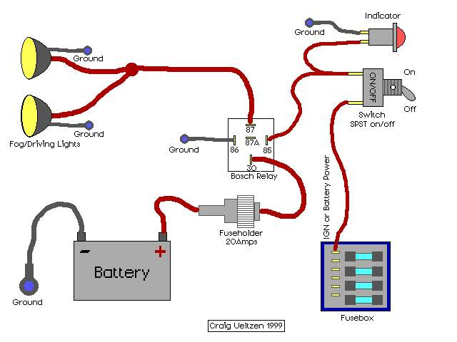 wiring an electric fan with a relay - team camaro tech, Wiring diagram