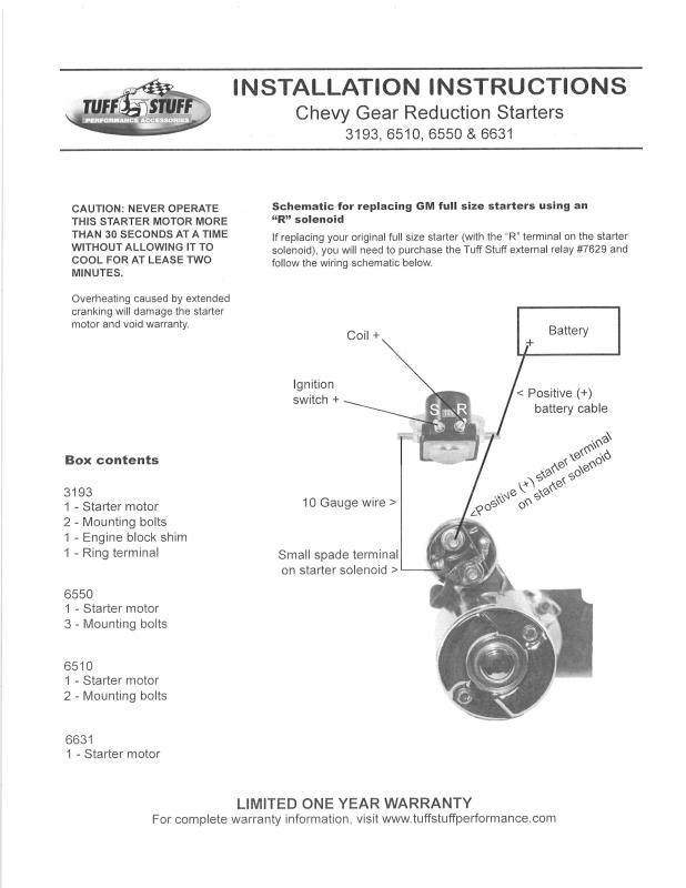 Simple Chevy 350 Starter Wiring Diagram from www.camaros.net
